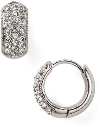 Nadri Tiny Pave Huggie Hoop Earrings