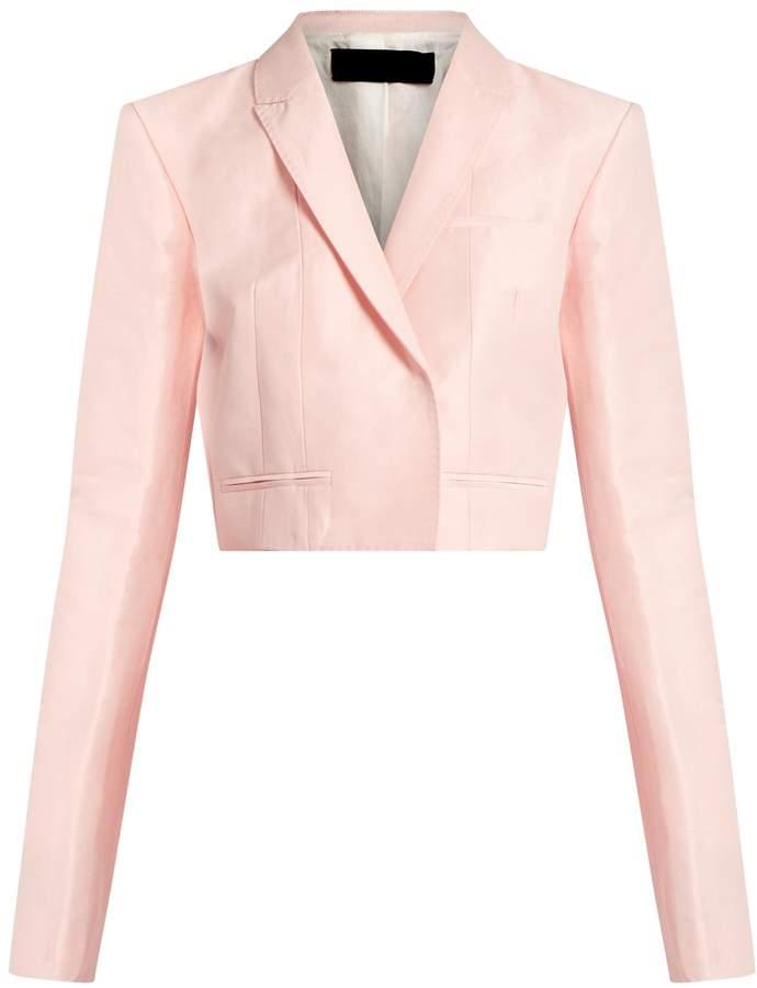 Pink Cropped Jacket - ShopStyle Australia