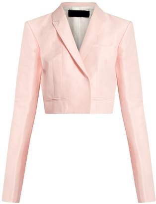 HAIDER ACKERMANN Mercure linen-blend cropped jacket $1,033 thestylecure.com