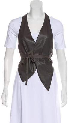 Elaine Kim Sheer Paneled Vest