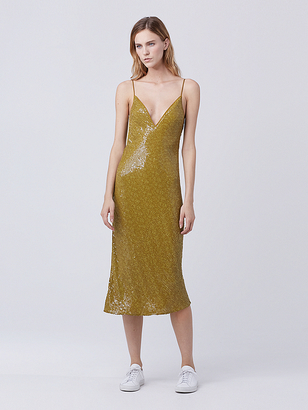 Havita Embellished Slip Dress $898 thestylecure.com