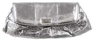 Jimmy Choo Metallic Snakeskin Cosmetic Bag