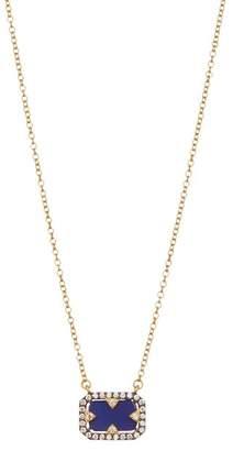 Freida Rothman Indigo Glamour Lapis & CZ Radiant Pendant Necklace