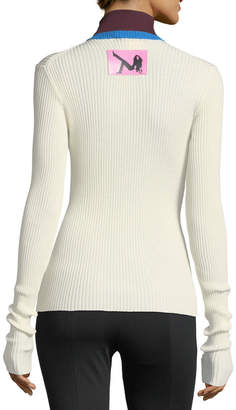 Calvin Klein Colorblock Ribbed Turtleneck Sweater