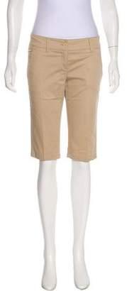 Prada Sport Mid-Rise Knee-Length Shorts
