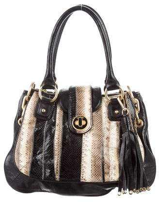 Botkier Python-Accented Leather Satchel