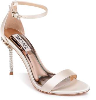 Badgley Mischka Vicia Crystal Embellished Heel Sandal