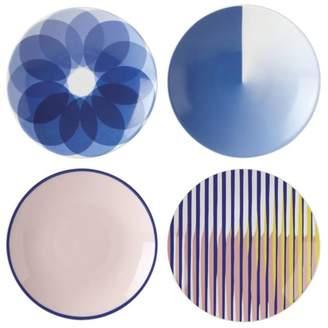 Lenox Domino Technic Assorted Tidbit Plates, Set of 4 - 100% Exclusive