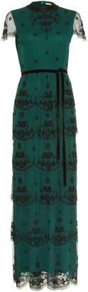 Next Womens Phase Eight Black Roberta Beaded Layered Dress