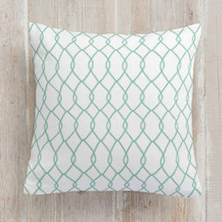 Linked Trellis Square Pillow