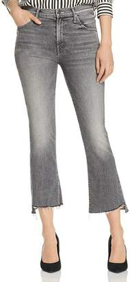 Mother The Insider Step-Hem Cropped Flared Jeans in Tag, You're It!