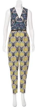 Yigal Azrouel Printed Sleeveless Jumpsuit