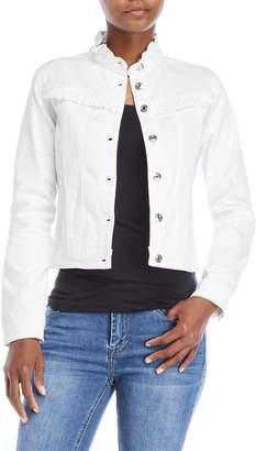 Kensie Ruffle Forever Denim Jacket