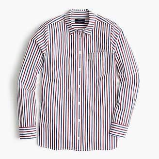 J.Crew Petite classic-fit boy shirt in trifecta stripe