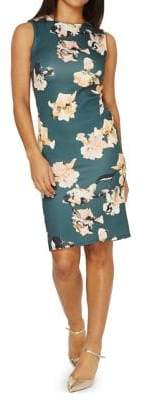 Dorothy Perkins Floral Scuba Knit Sheath Dress