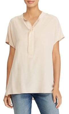 Polo Ralph Lauren Short-Sleeve Silk Blouse