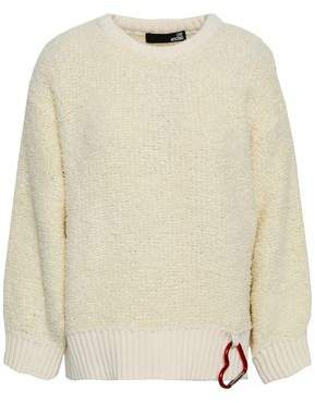 Love Moschino Embellished Boucle Wool-blend Sweater
