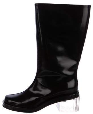 Simone Rocha Mid-Calf Leather Boots