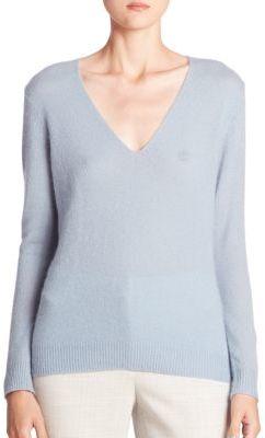 Theory Adrianna Cashmere V-Neck Sweater $265 thestylecure.com