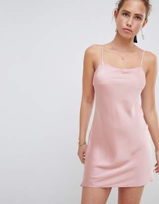 Miss Selfridge satin slip dress in light pink