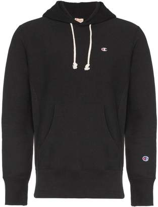 Champion black reverse weave terry cotton hoodie