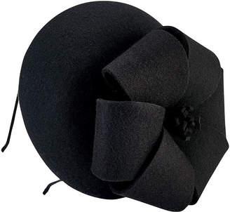 San Diego Hat Company Wool Felt Fascinator With Bow Detail