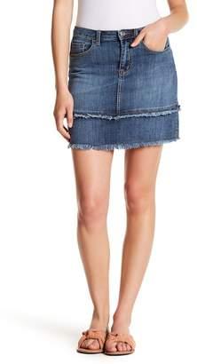 Melrose and Market Fringe Detail Denim Mini Skirt (Regular & Petite)