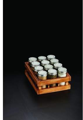 Kamenstein Twelve Glass Jar Wooden Crate Spice Rack