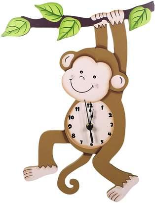 Fantasy Fields by Teamson Sunny Safari Monkey Wall Clock