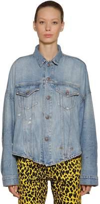R 13 Oversized Cotton Denim Trucker Jacket