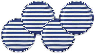 Caskata Set of 4 Beach Salad Plates - White/Blue