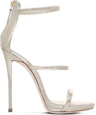 Giuseppe Zanotti Colline metallic-leather sandals $620 thestylecure.com