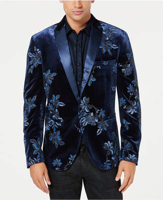 INC International Concepts I.n.c. Men Floral Puff-Print Blazer