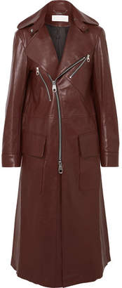 Chloé Leather Coat - Brown