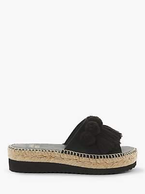 a1e3bebb8f41 AND OR Katie Pom Pom Tassel Slip On Flatform Sandals