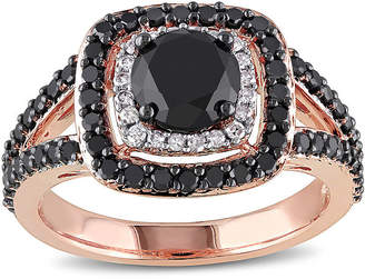 Black Diamond MODERN BRIDE Midnight 2 CT. T.W. White and Color-Enhanced 14K Rose Gold Ring