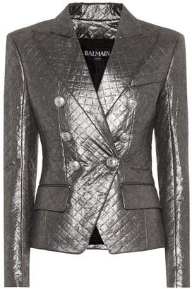 Balmain Quilted metallic blazer
