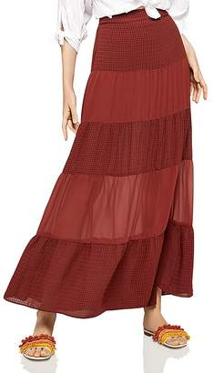 BCBGeneration Tiered Chiffon Maxi Skirt