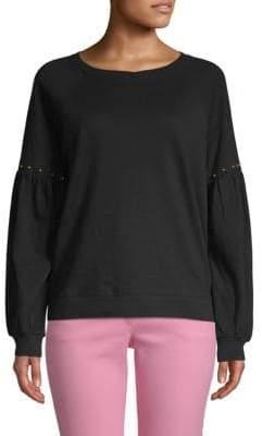 Sanctuary Studded Cotton Sweatshirt