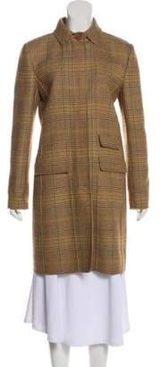 Oscar de la Renta Wool Houndstooth Coat