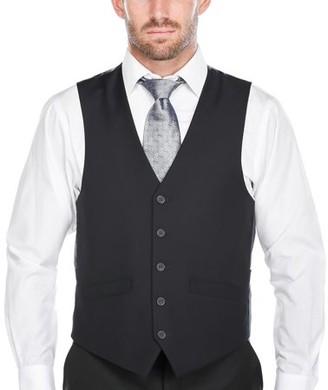Verno Big Men's Dark Navy Five Button Classic Fit Vest