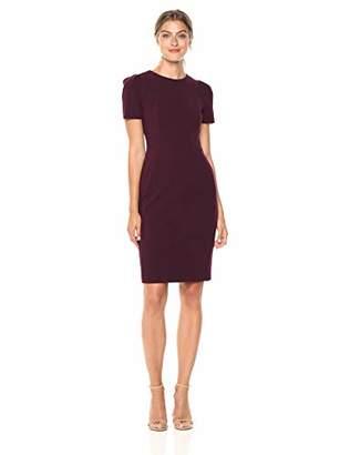 Calvin Klein Women's Short Sleeved Princess Seamed Sheath Dress