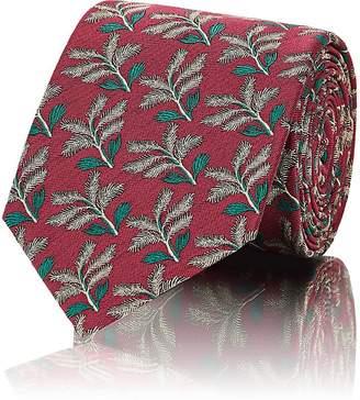 Prada Men's Leaf-Pattern Silk Twill Necktie