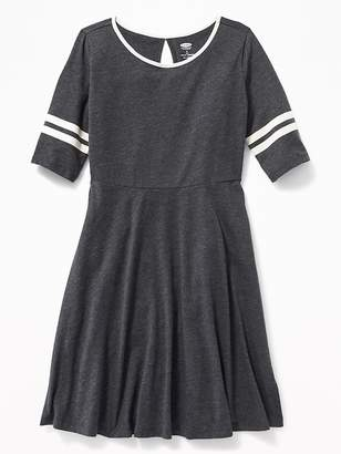 Old Navy Jersey Fit & Flare Dress for Girls