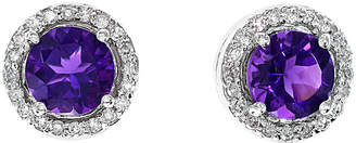 Effy Fine Jewelry 14K 1.53 Ct. Tw. Diamond & Amethyst Studs