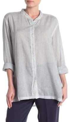 Jarbo Neru Mandarin High/Low Tunic Shirt