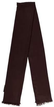 Gucci Wool & Silk-Blend Logo Scarf