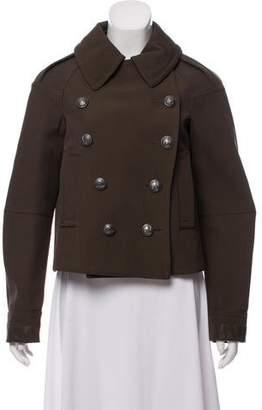 Belstaff Leather-Trimmed Wool Jacket