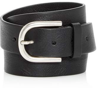 To Boot Men's Burnished Buckle Leather Belt