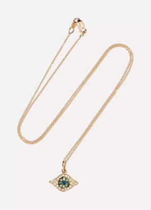 Ileana Makri Kitten Eye 18-karat Gold Multi-stone Necklace